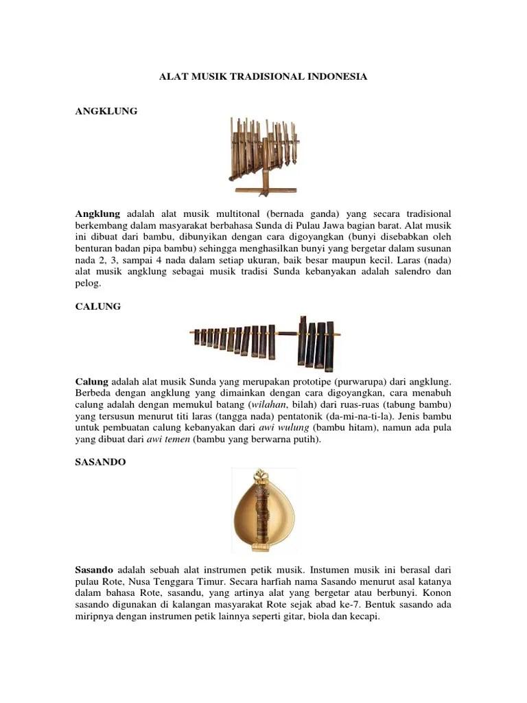 Alat Musik Khas Indonesia Bagian Timur : musik, indonesia, bagian, timur, Musik, Tradisional, Indonesia