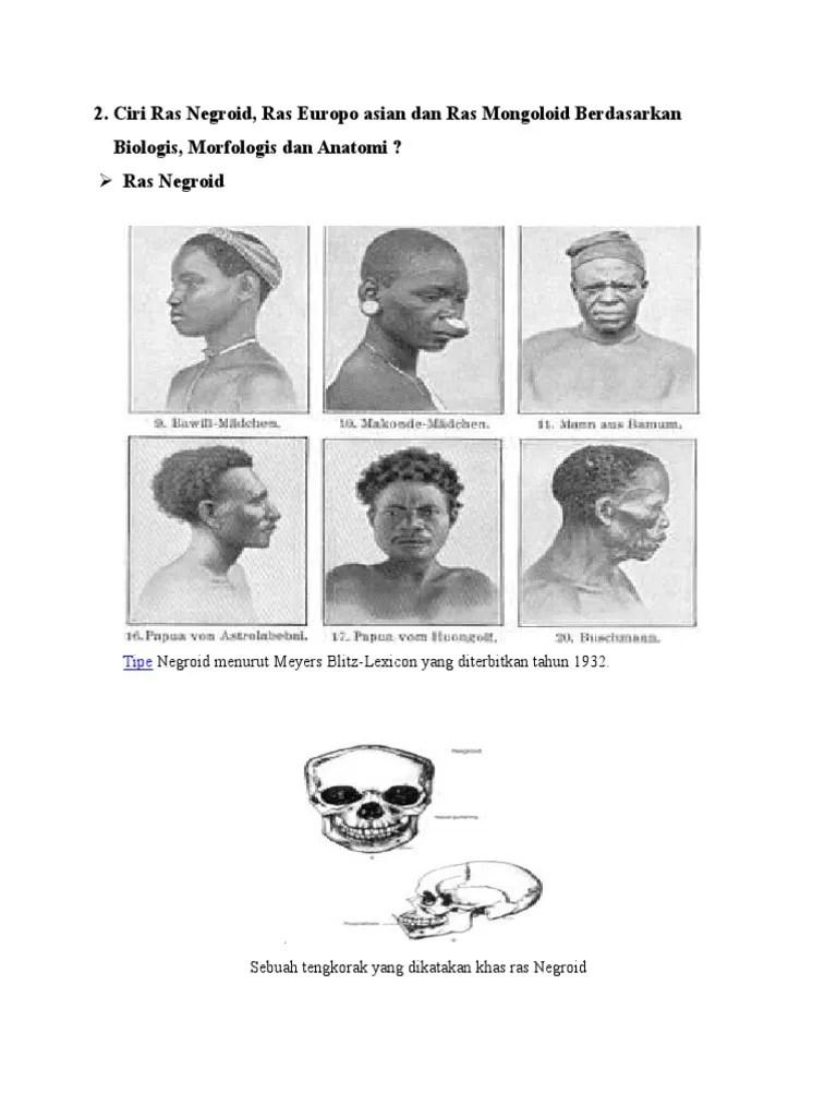 Ciri Ciri Ras Negroid : negroid, 18627798, Mongoloid