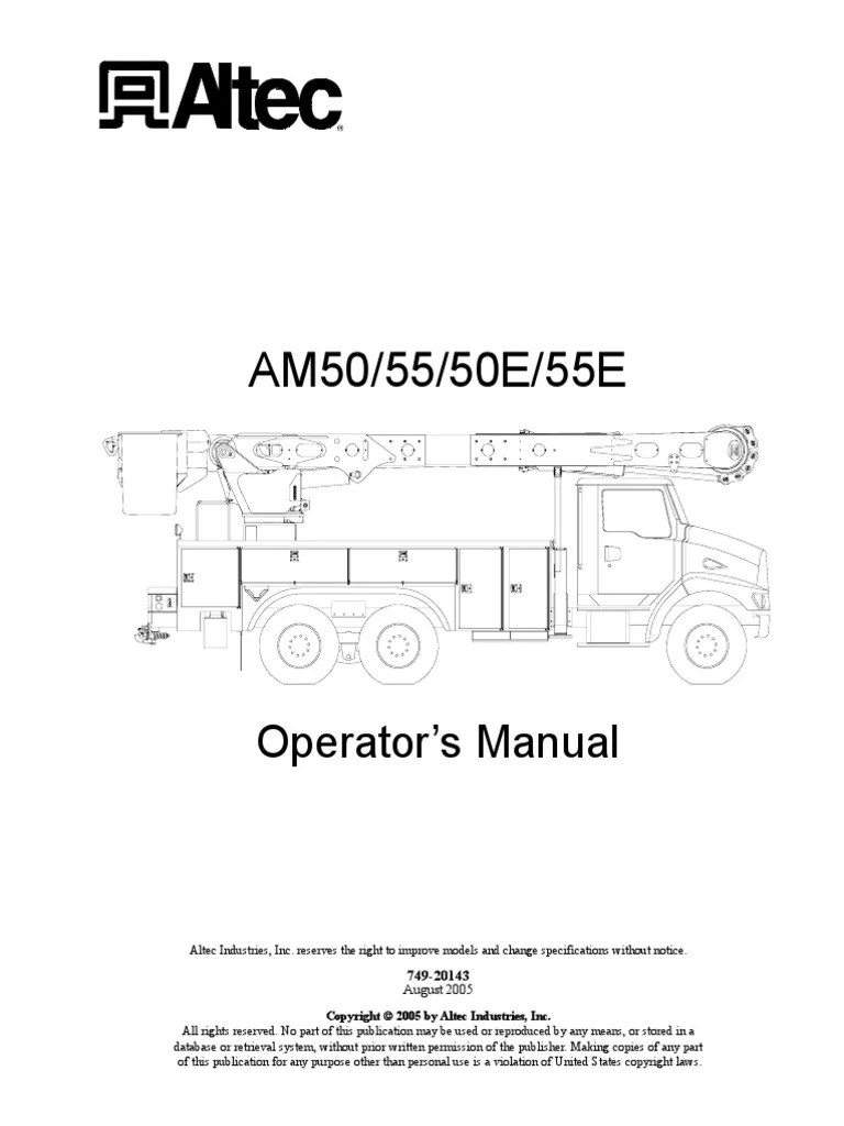 hight resolution of am50 55 50e 55e o insulator electricity electrical conductor harness wiring diagram altec winch wiring diagram