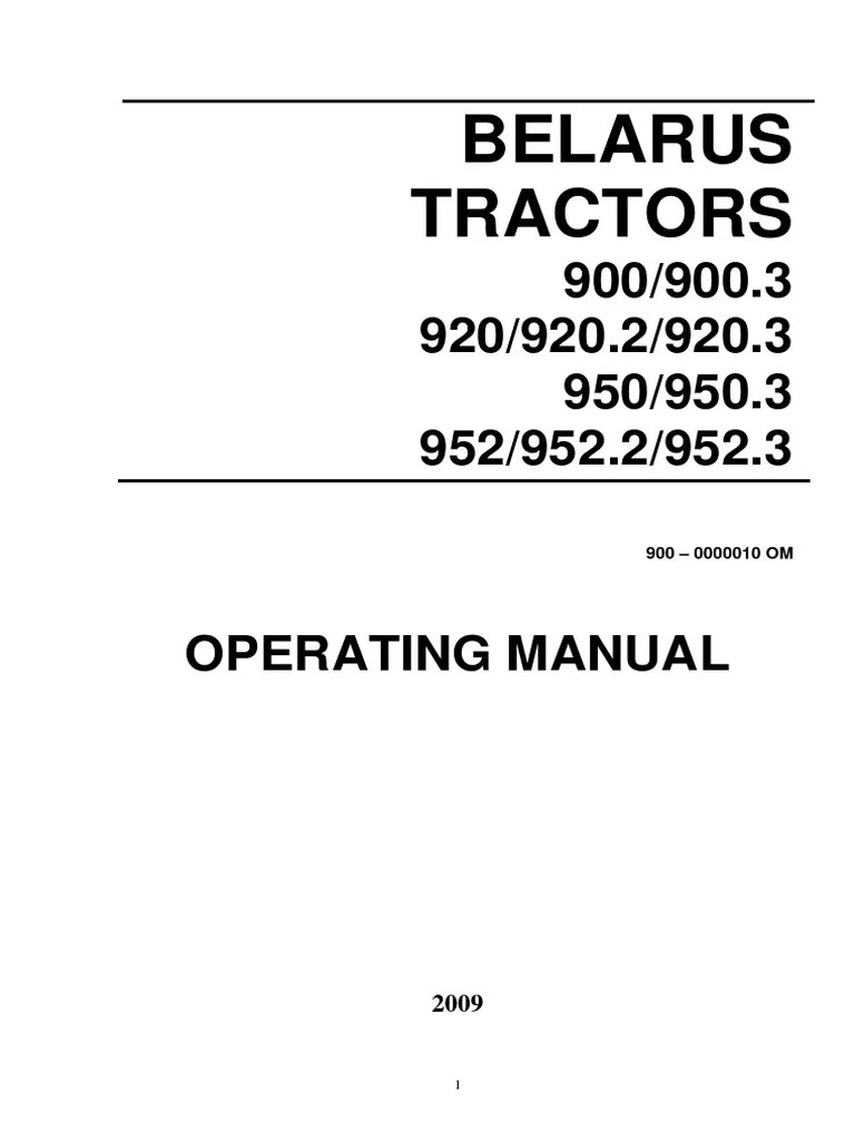 medium resolution of belarus 900 952 eng manual transmission tractor