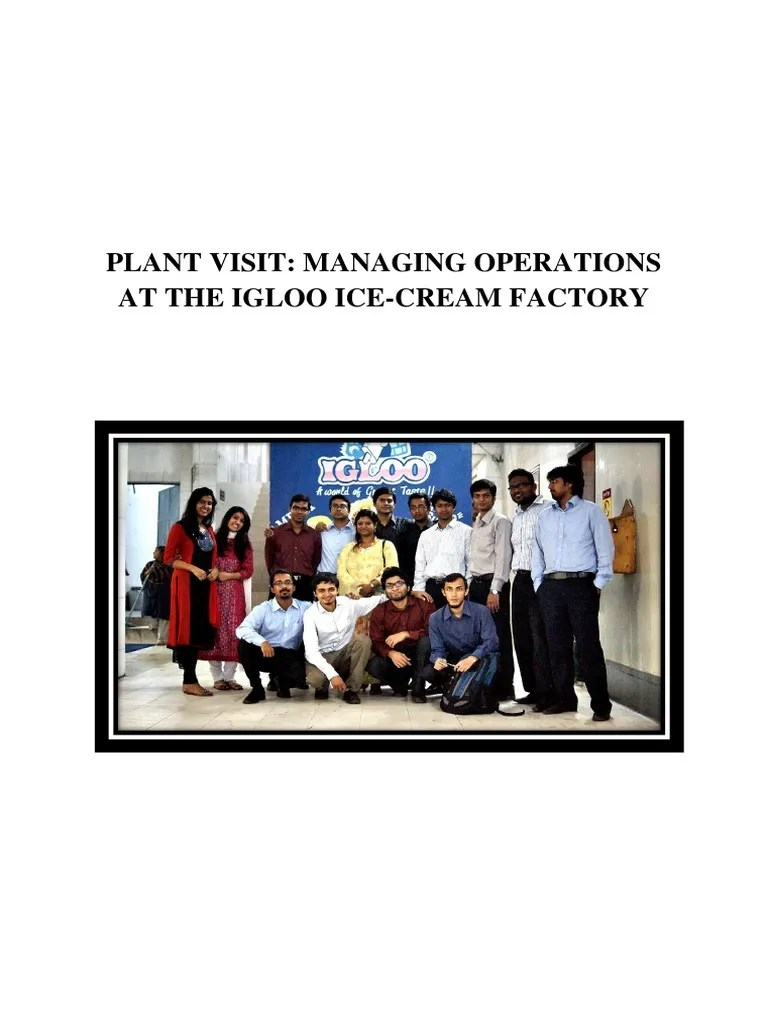 also igloo plant report final version supply chain inventory rh scribd