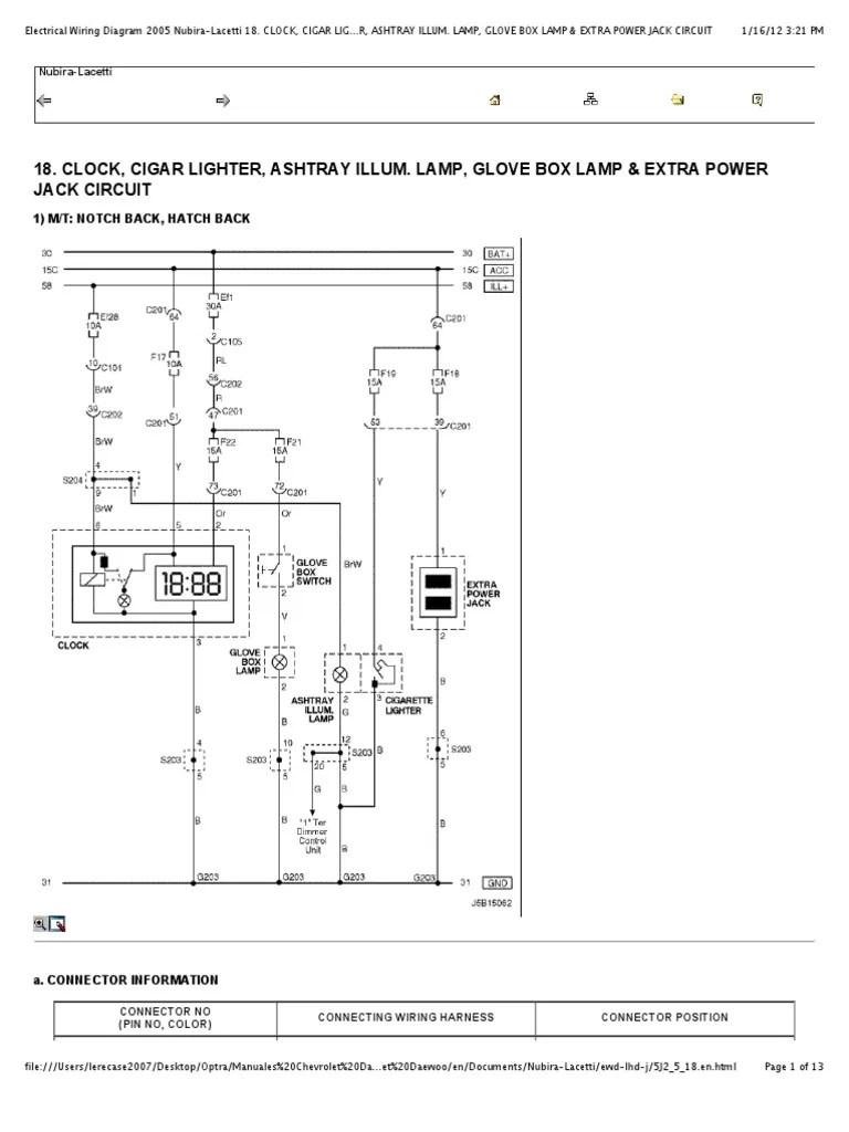 preview of electrical wiring diagram 2005 nubira lacetti 18 clock cigar lighter [ 768 x 1024 Pixel ]