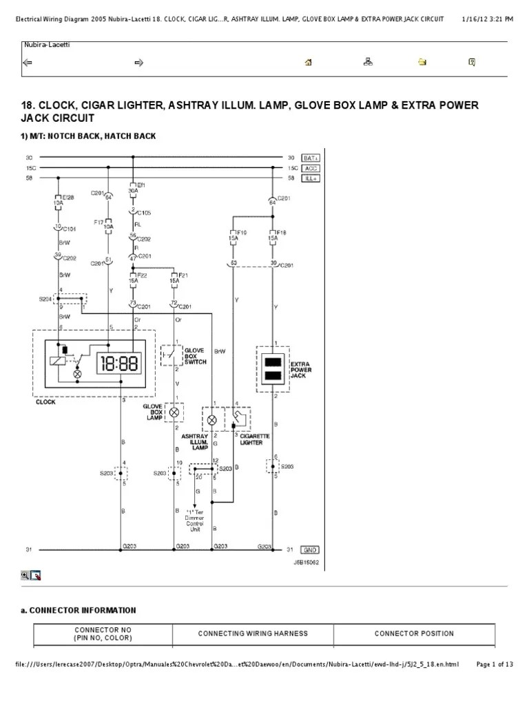 medium resolution of chevrolet lacetti 2005 wiring diagram