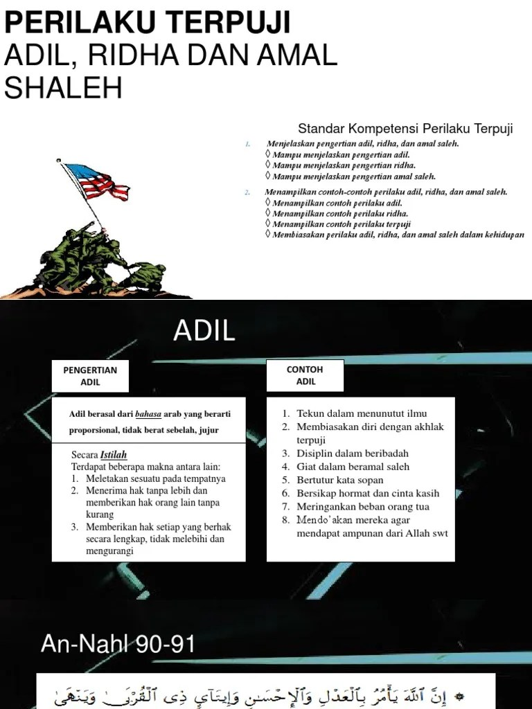 Sebutkan 5 Contoh Amal Saleh ? - Brainly.co.id