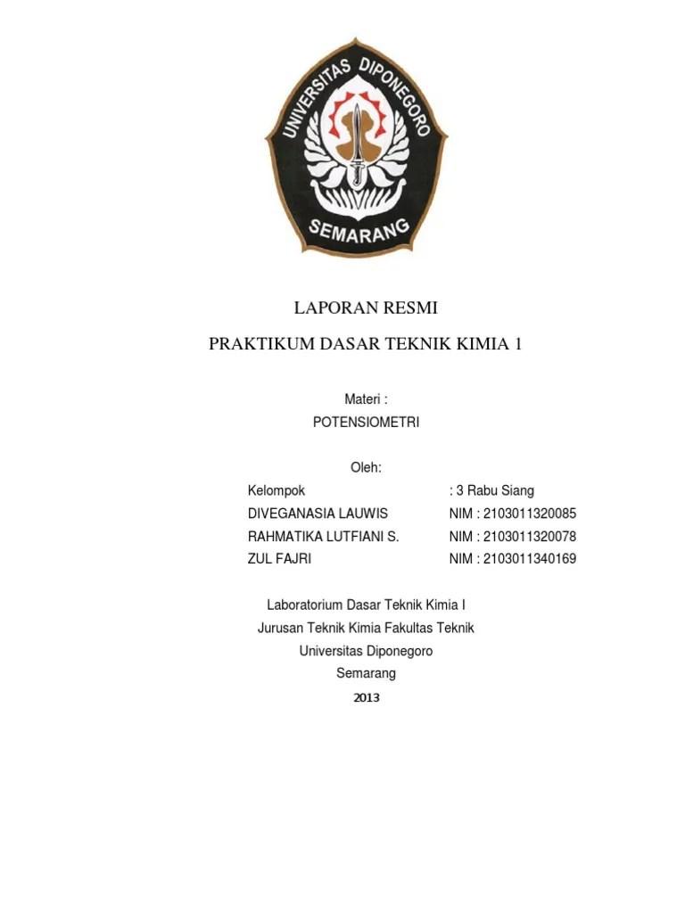Laporan Praktikum Potensiometri : laporan, praktikum, potensiometri, Laporan, Resmi, Diveganasia, Lauwis, Potensiometri...pdf