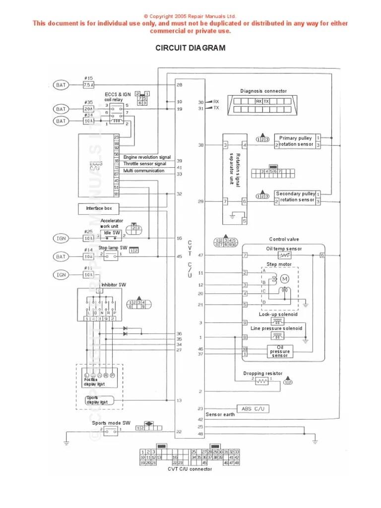 2008 nissan sentra cvt transmission diagram wiring schematic [ 768 x 1024 Pixel ]