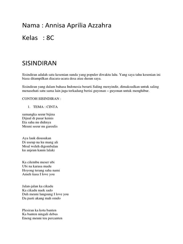 Sisindiran Bahasa Sunda : sisindiran, bahasa, sunda, Tugas, Bahasa, Sunda, Sisindiran.docx