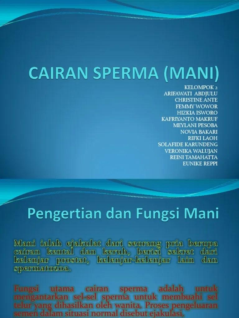 Cairan Sperma : cairan, sperma, Cairan, Sperma, (Mani)