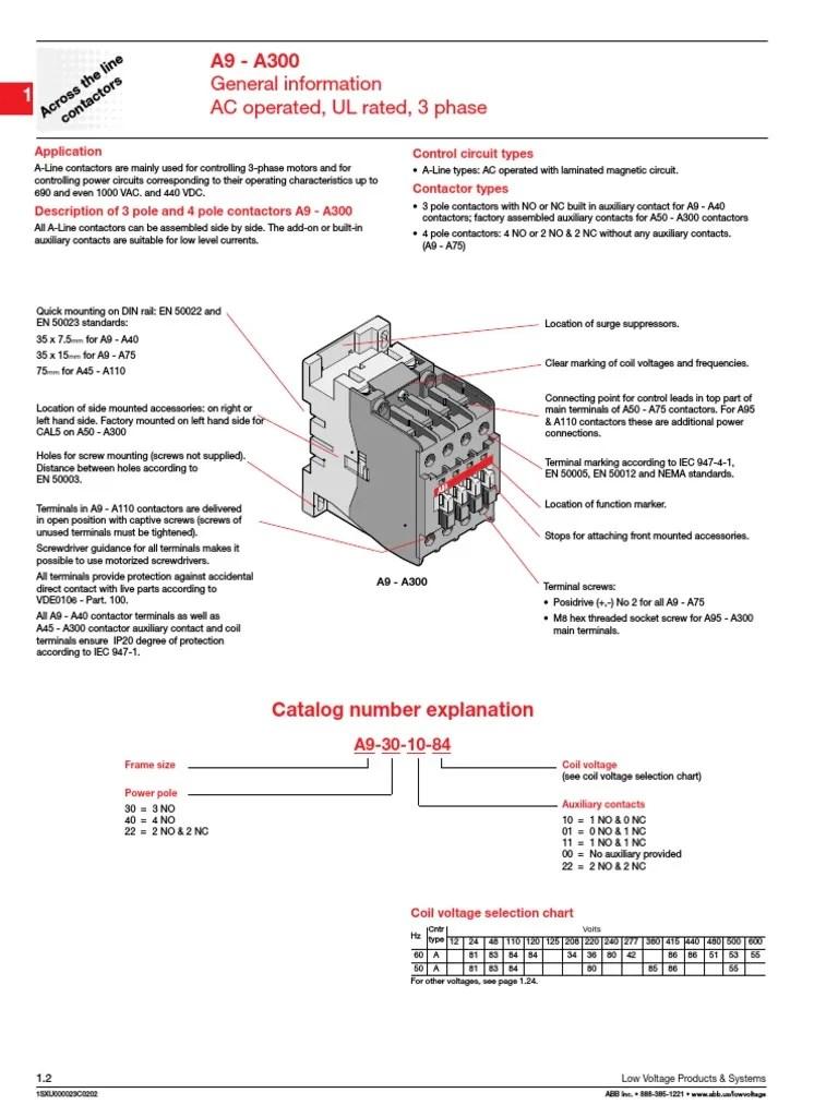 Abb A26 30 10 Contactor Wiring Diagram - abb contactors ... Abb Contactor Wiring Diagram on