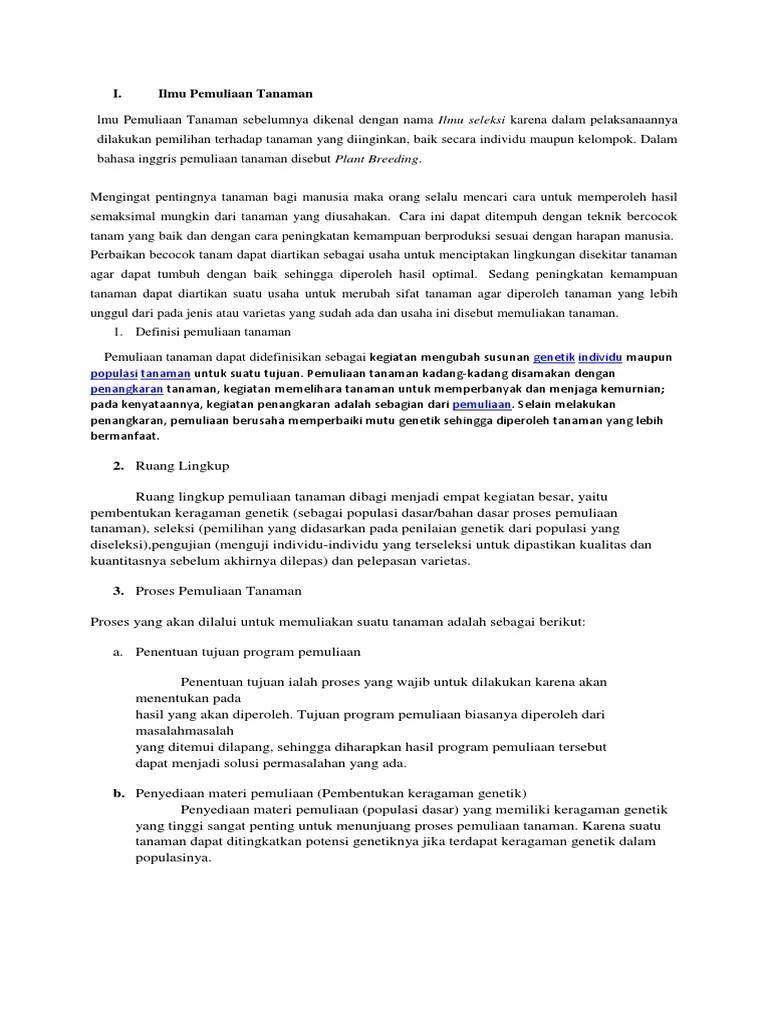 Materi Pemuliaan Tanaman : materi, pemuliaan, tanaman, Pemuliaan, Tanaman, 1.docx