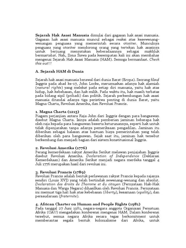 Sejarah Ham Di Perancis : sejarah, perancis, Indonesia