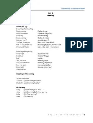Sepupu Bahasa Inggris : sepupu, bahasa, inggris, Bahasa, Inggris, Kelas, 4.pdf