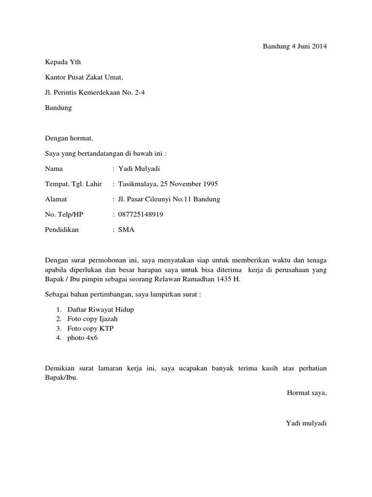 96 Contoh Surat Lamaran Kerja Rumah Sakit Dalam Bahasa Inggris