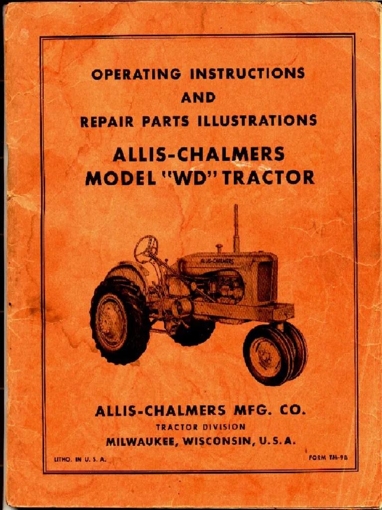 medium resolution of alli chalmer wd wiring diagram