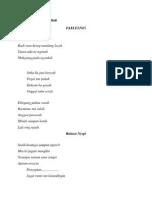 Puisi Bahasa Bali : puisi, bahasa, Contoh, Puisi, Bahasa, Bali.docx