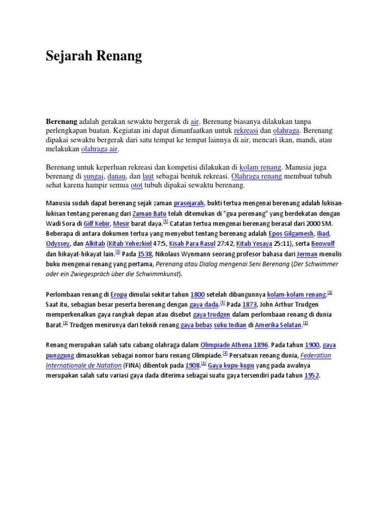 Sejarah Renang Gaya Punggung : sejarah, renang, punggung, Sejarah, Renang