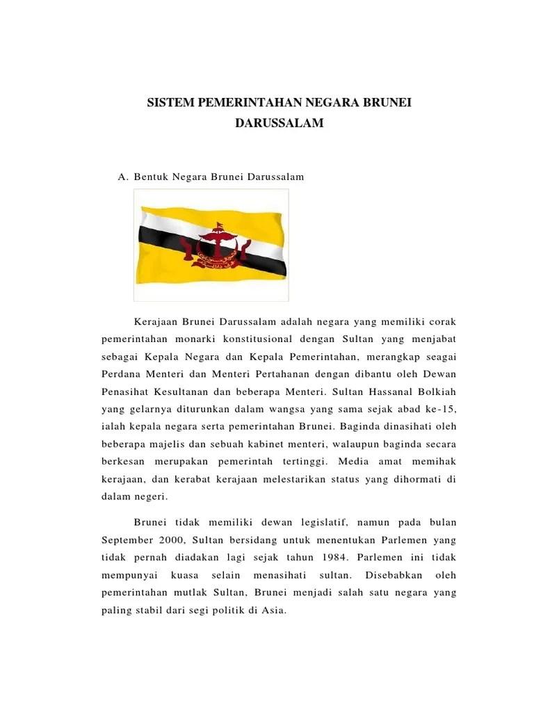 Sistem Pemerintahan Brunei Darussalam : sistem, pemerintahan, brunei, darussalam, Sistem, Pemerintahan, Negara, Brunei, Darussalam.docx