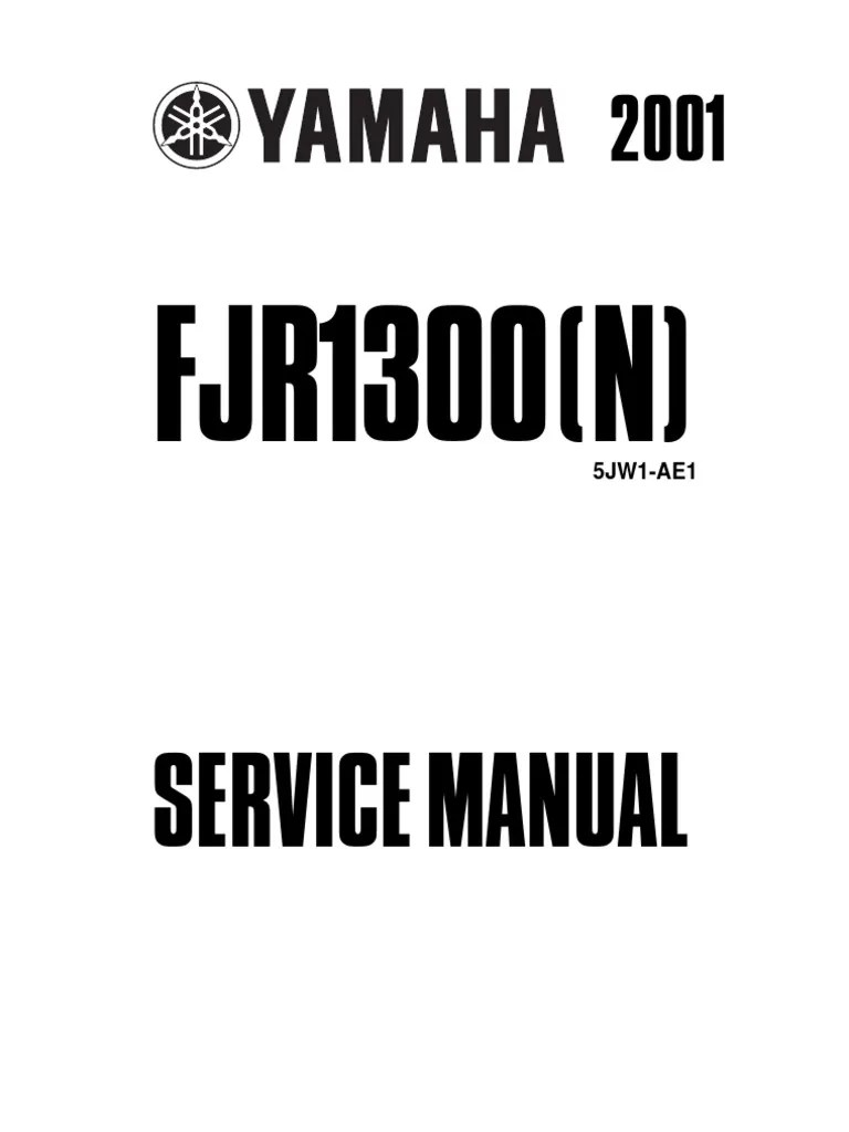 Yamaha Fjr1300 Service Manual 2003