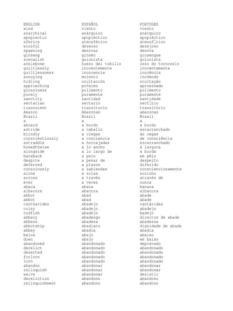 hight resolution of 27658725 diccionario ingles espanol portugues 2 pdf grandparent nature