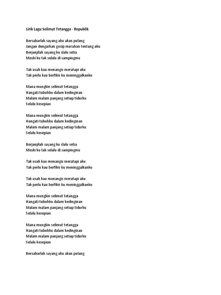 Lirik Lagu Selimut Biru : lirik, selimut, Lirik, Selimut, Putih