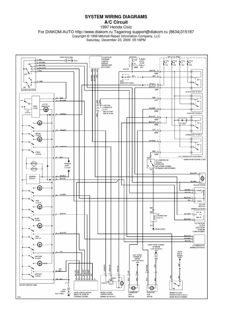 medium resolution of 1997 honda civic horn wiring diagram
