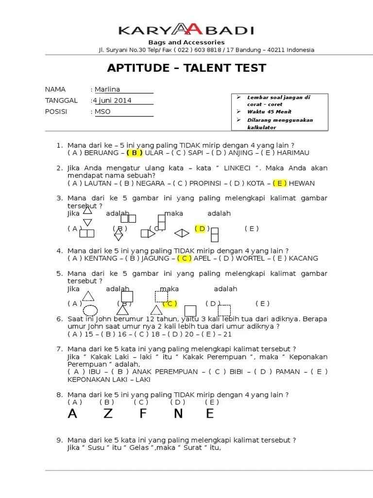 Jika Adalah : adalah, Aptitude, Talent