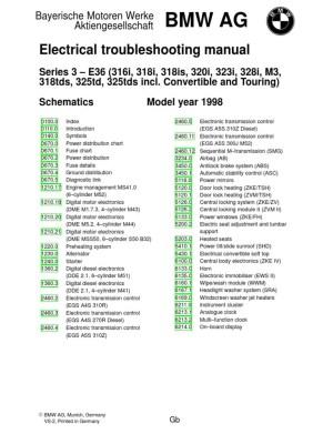 1998 BMW E36 Electrical Wiring Diagram   Switch   Headlamp
