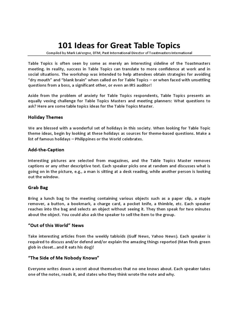 Funny Table Topics Questions : funny, table, topics, questions, Ideas, Great, Table, Topics, Postcard, Question
