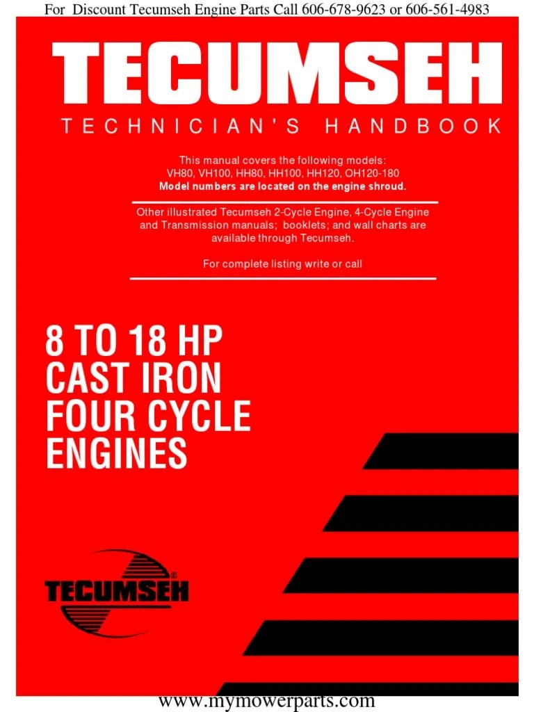 small resolution of tecumseh service repair manual vh80 vh100 hh80 hh100
