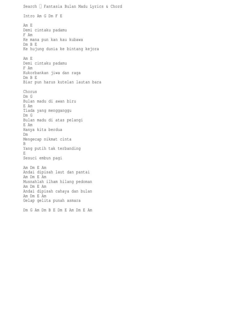 Chord Bulan Madu : chord, bulan, Fantasia, Bulan, Chord