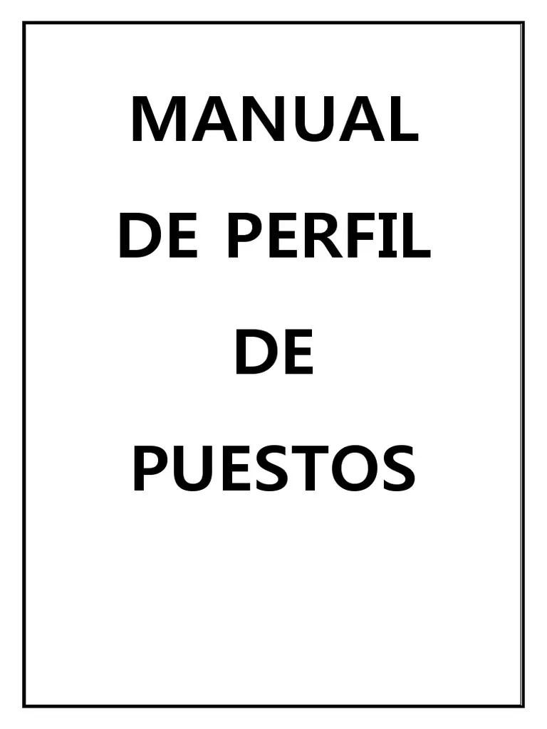 Manual de Perfil de Puestos
