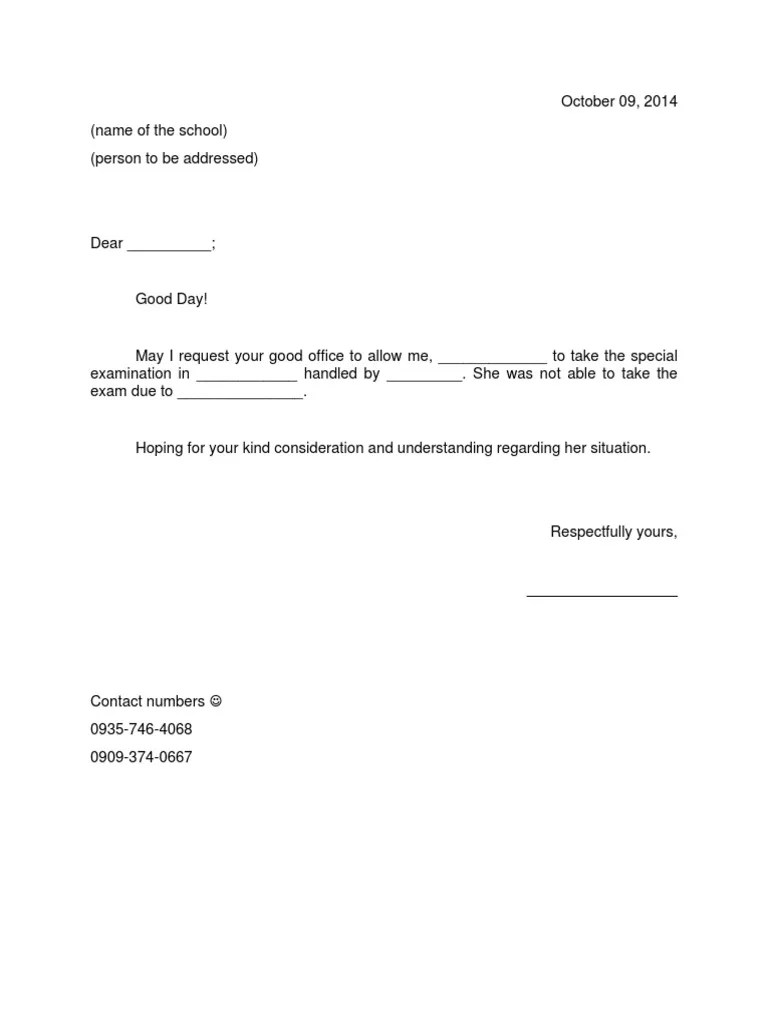 Sample Permission Letters Medical