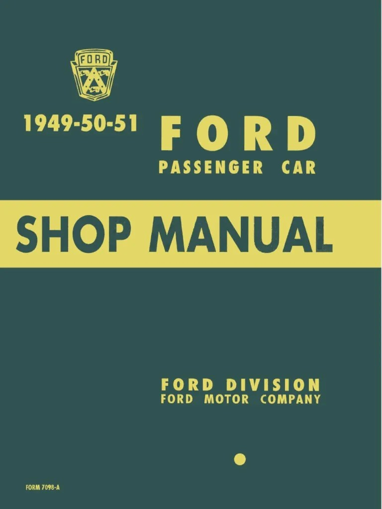 1949 1950 1951 ford passenger car shop manual internal combustion engine bearing mechanical  [ 768 x 1024 Pixel ]