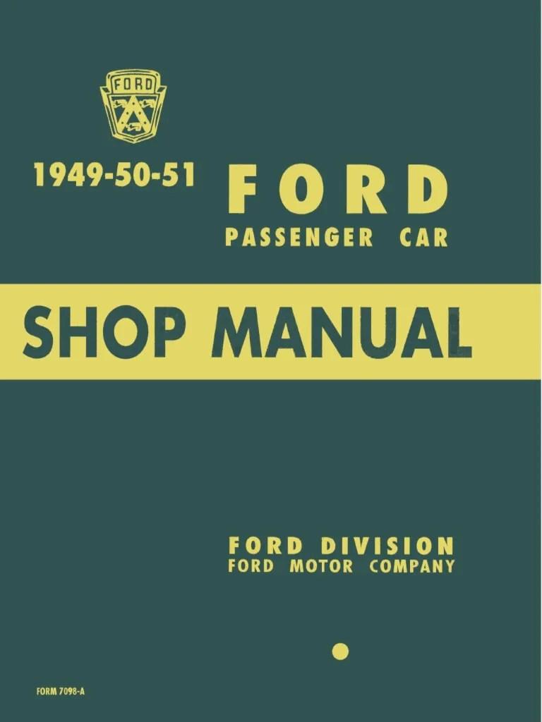 hight resolution of 1949 1950 1951 ford passenger car shop manual internal combustion engine bearing mechanical
