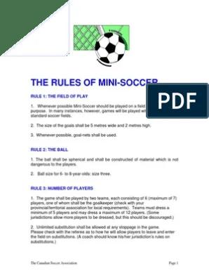 Peraturan Mini Soccer : peraturan, soccer, Rules, Soccer.PDF, Association, Football, Games