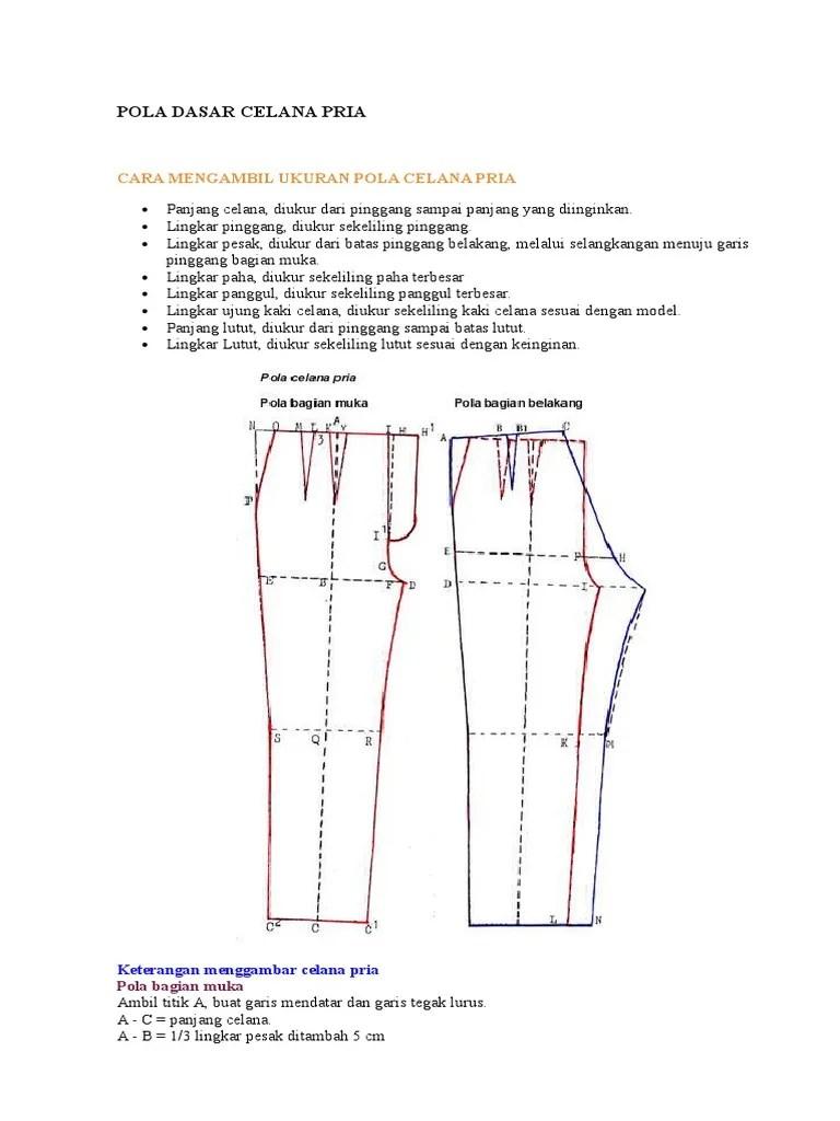 Cara Membuat Pola Celana Panjang : membuat, celana, panjang, Dasar, Celana