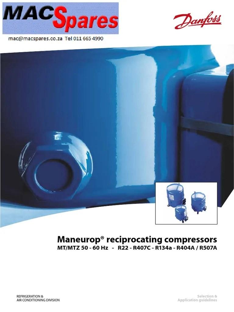 medium resolution of ms maneurop refigeration compressors spec sheets engineering thermodynamics mechanical engineering