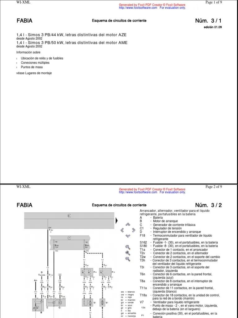 skoda diagrama de cableado de la red