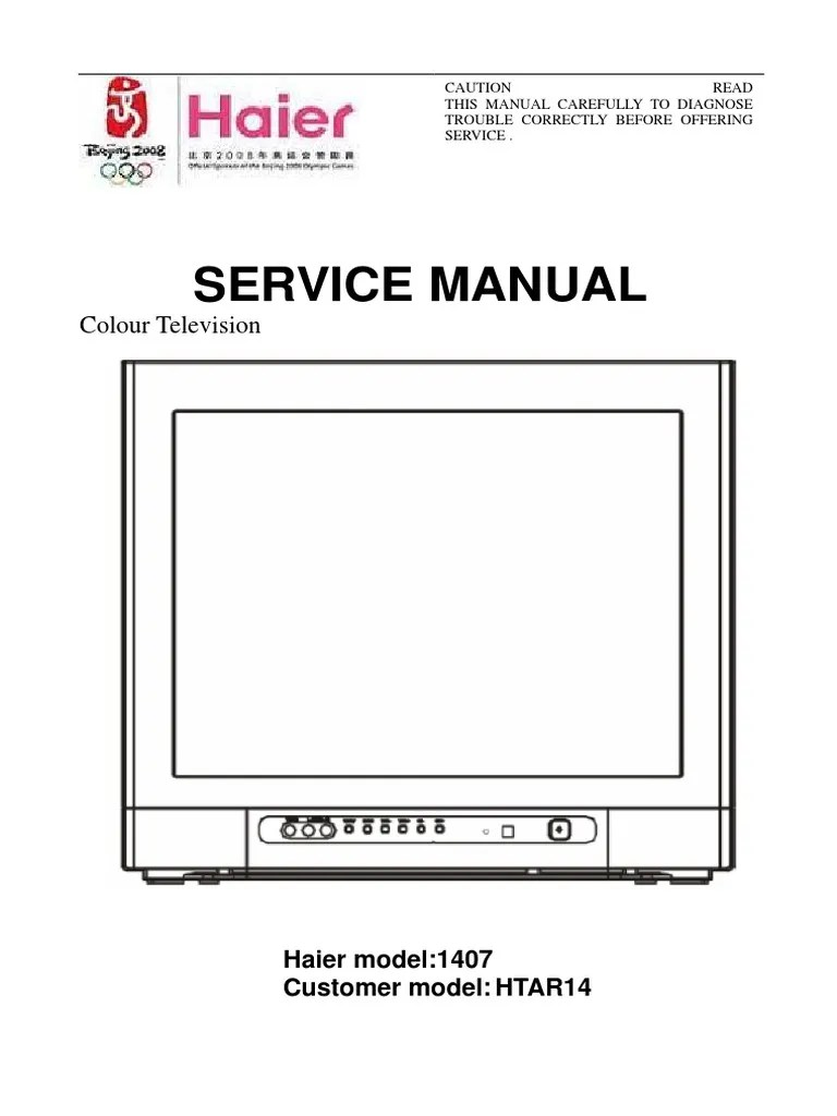hight resolution of haier led tv service manuals