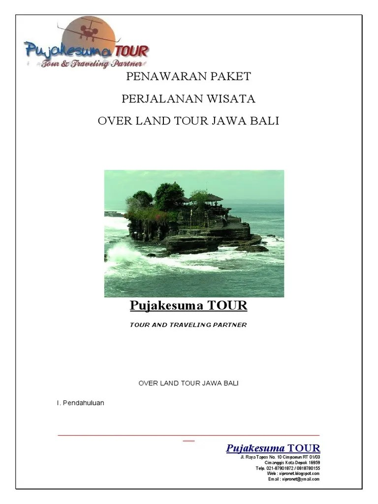 Contoh Proposal Penawaran Paket Wisata Pdf : contoh, proposal, penawaran, paket, wisata, Surat, Penawaran, Paket, Wisata