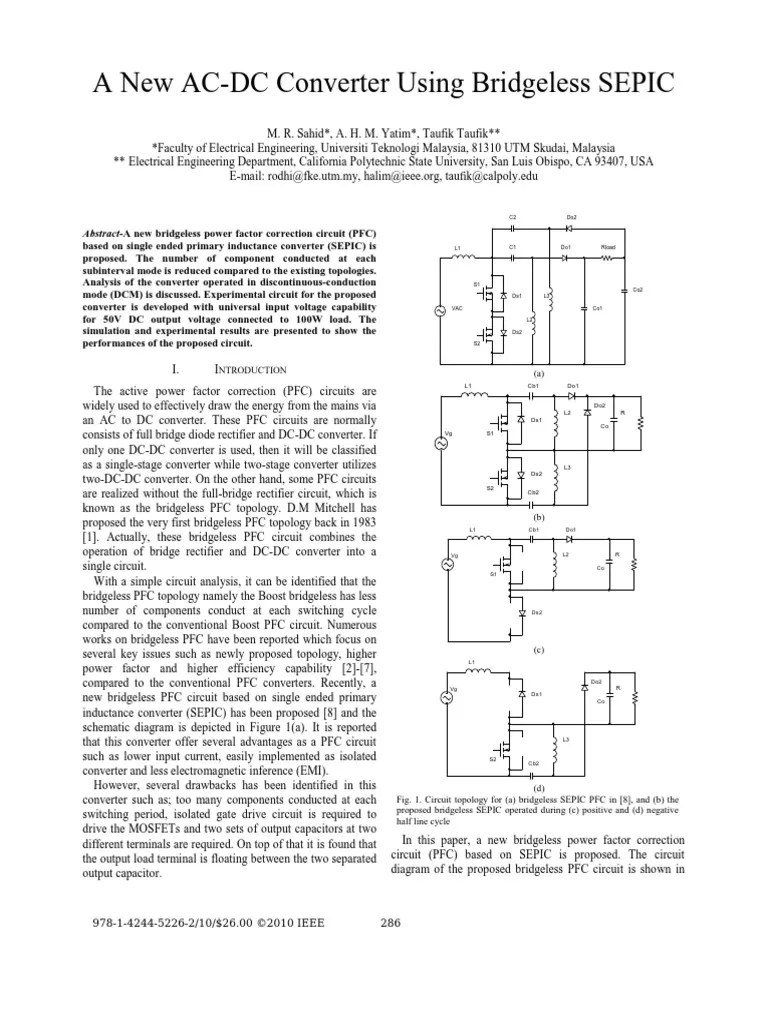 a new ac dc converter using bridgeless sepic rectifier computer engineering [ 768 x 1024 Pixel ]