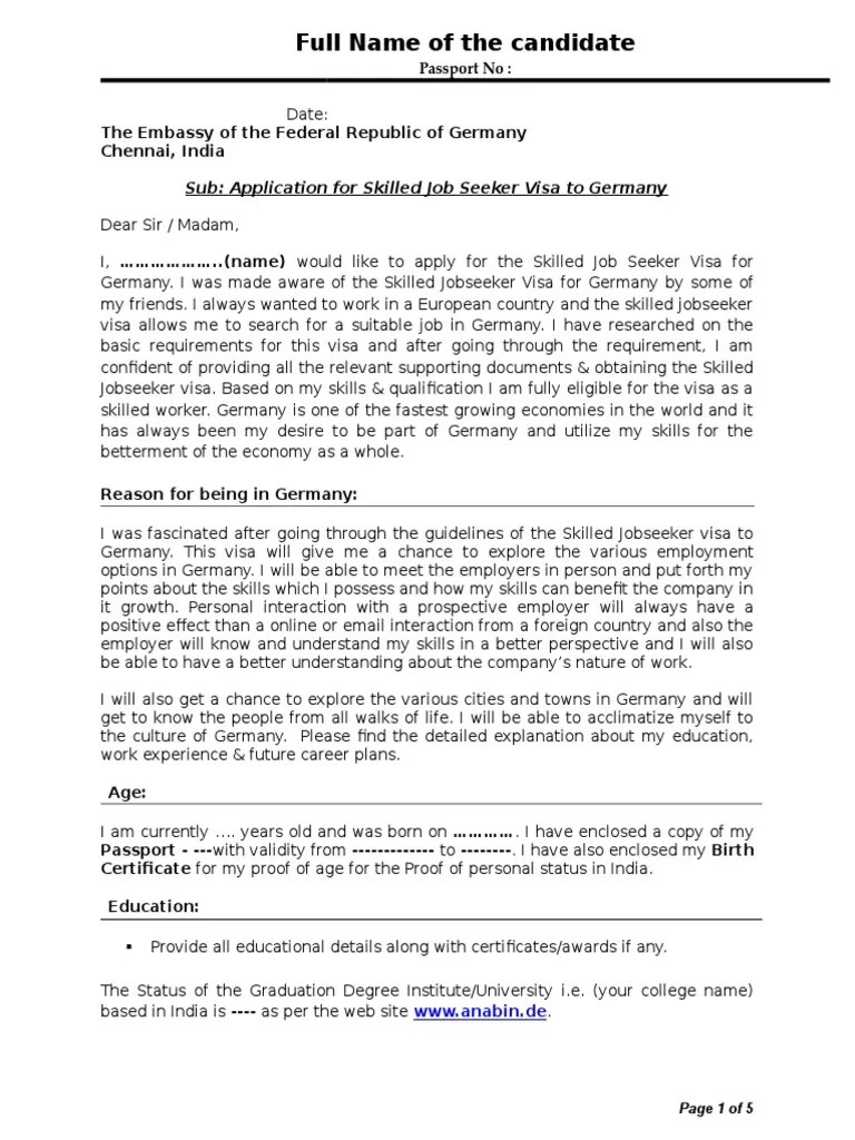Cover letter examples germany cover letter cover letter in german sample image collections samples spiritdancerdesigns Images