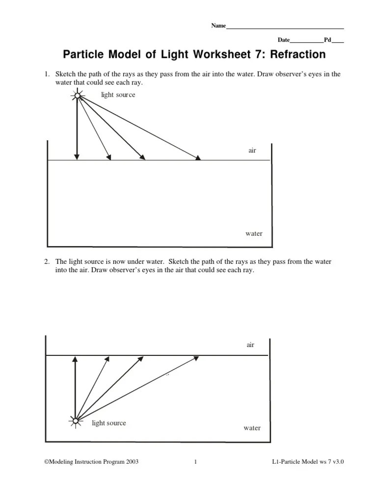 worksheet Light Reflection And Refraction Worksheet refraction of light worksheet free worksheets library download and refr cti w ksheet ksheets libr ry downlo d