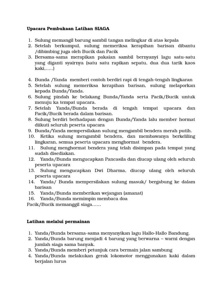 Upacara Pembukaan Latihan Siaga : upacara, pembukaan, latihan, siaga, Upacara, Pembukaan, Latihan, SIAGA