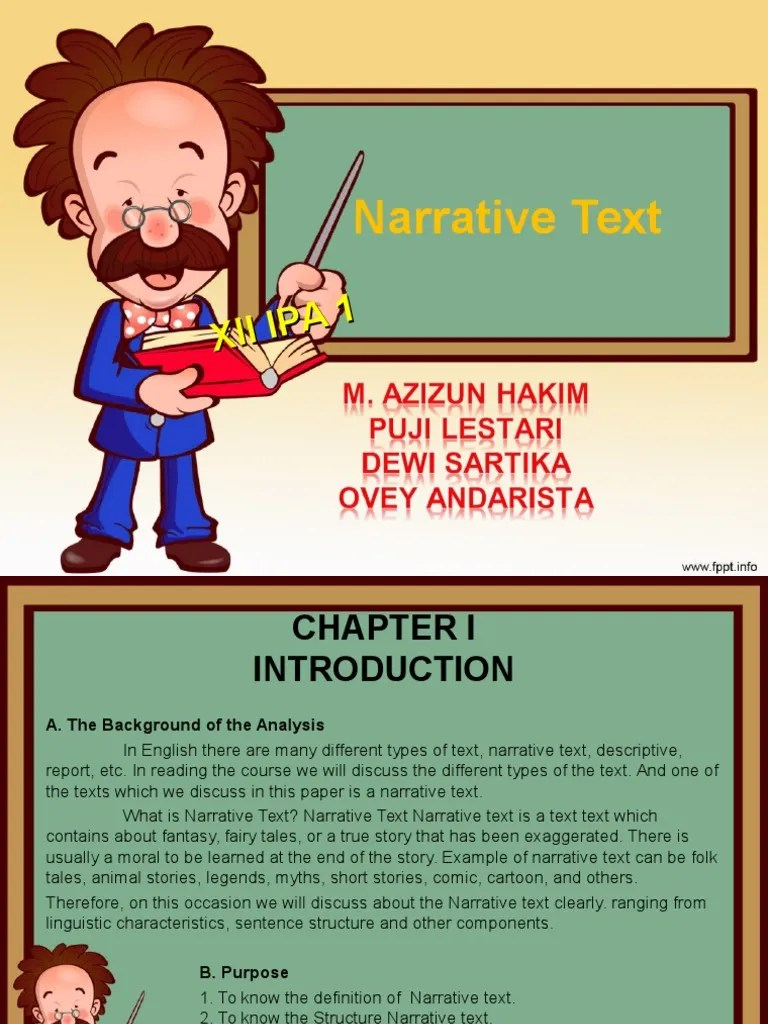 PPT - NARRATIVE TEXT PowerPoint presentation | free to