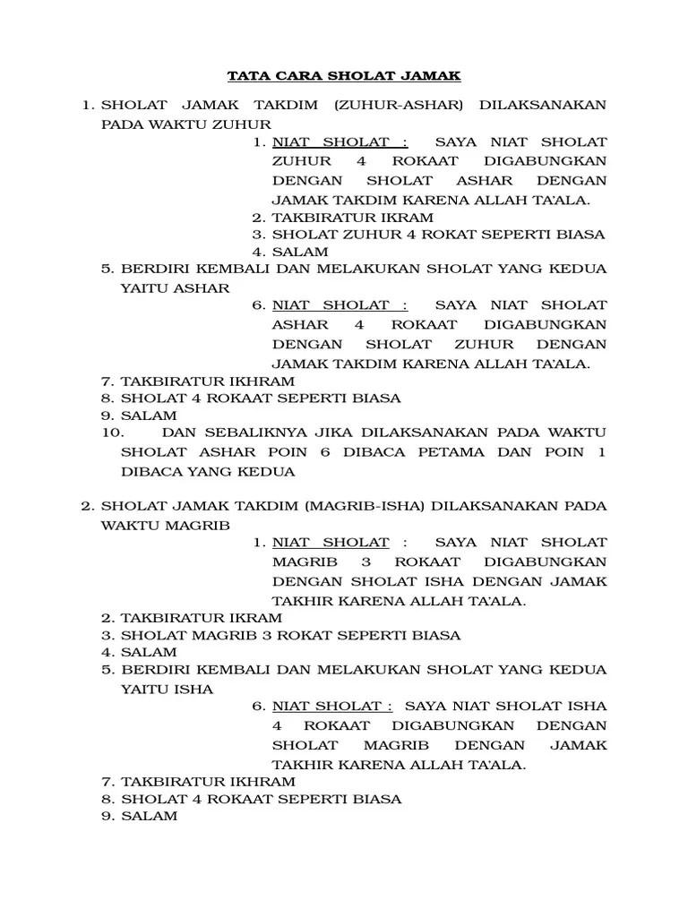 Tata Cara Menjamak Sholat : menjamak, sholat, Sholat, Jamak
