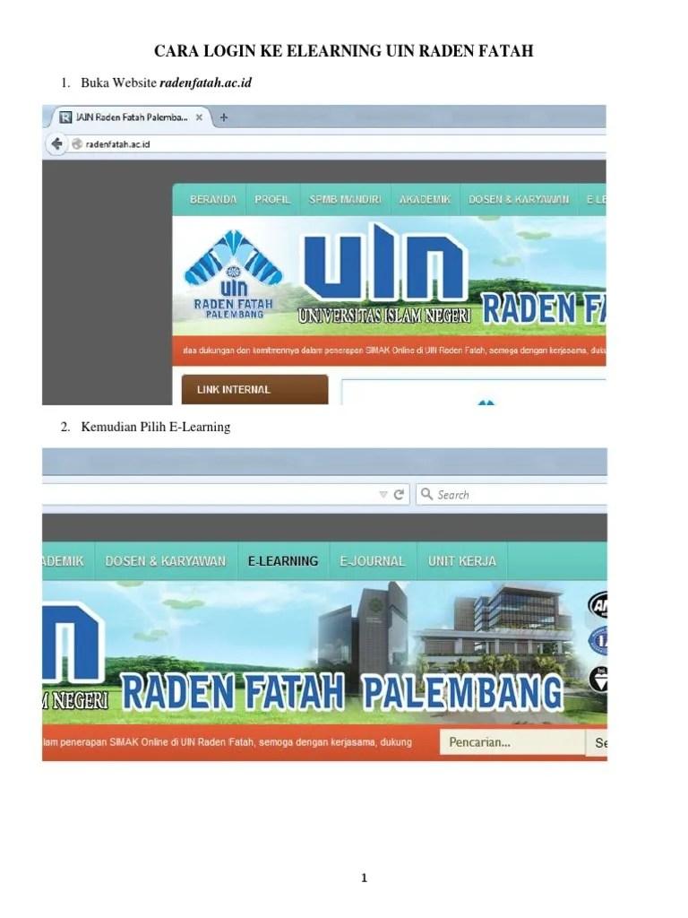 Elearning Uin Raden Fatah : elearning, raden, fatah, Login, Elearning, Mahasiswa