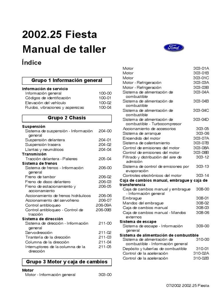 2006 Ford Fusion Fuse Box Manual Ford Fiesta Motor 1 6