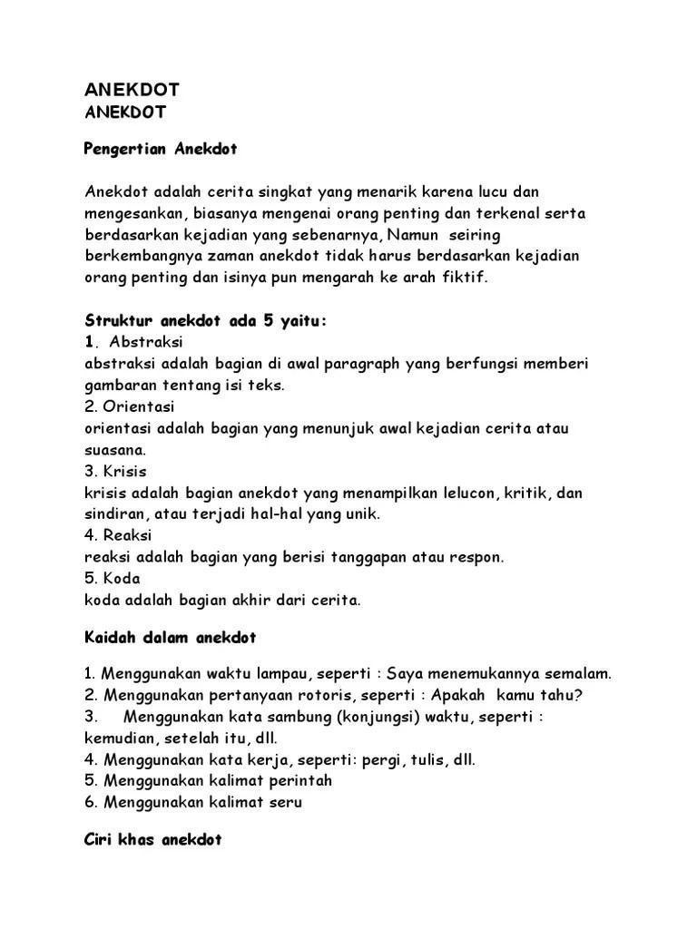 Kalimat Sindiran Dalam Teks Anekdot : kalimat, sindiran, dalam, anekdot, Contoh, Anekdot, Sindiran, Kumpulan, Pelajaran