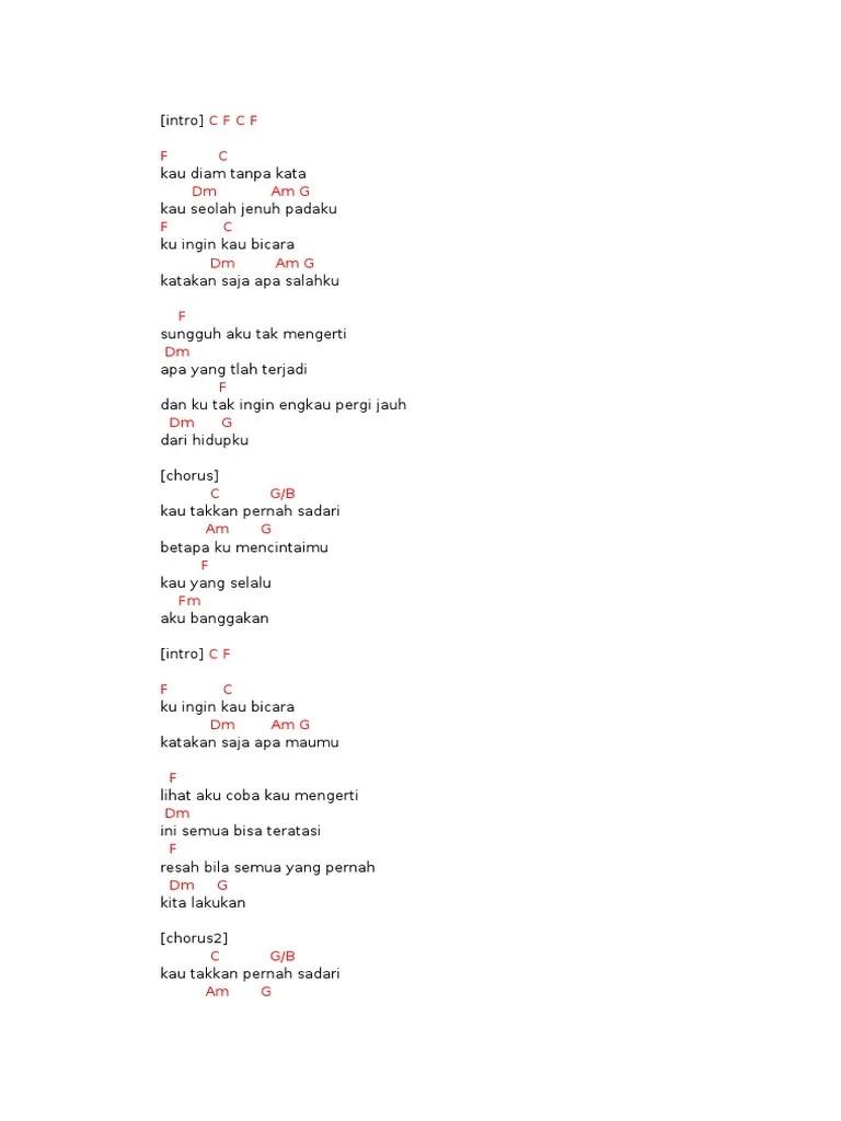 Chord D Masiv Diam Tanpa Kata : chord, masiv, tanpa, Tanpa